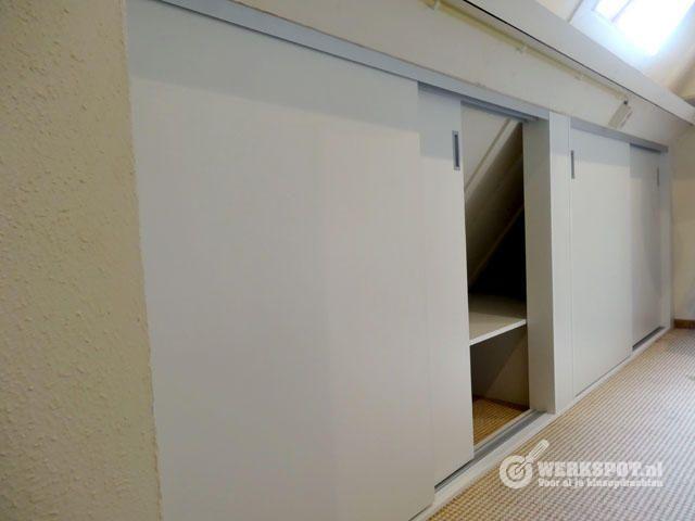 Kastenwand Slaapkamer Ikea   Review   Timmerwerken zolder tbv cre u00ebren werkruimte   Werkspot nl