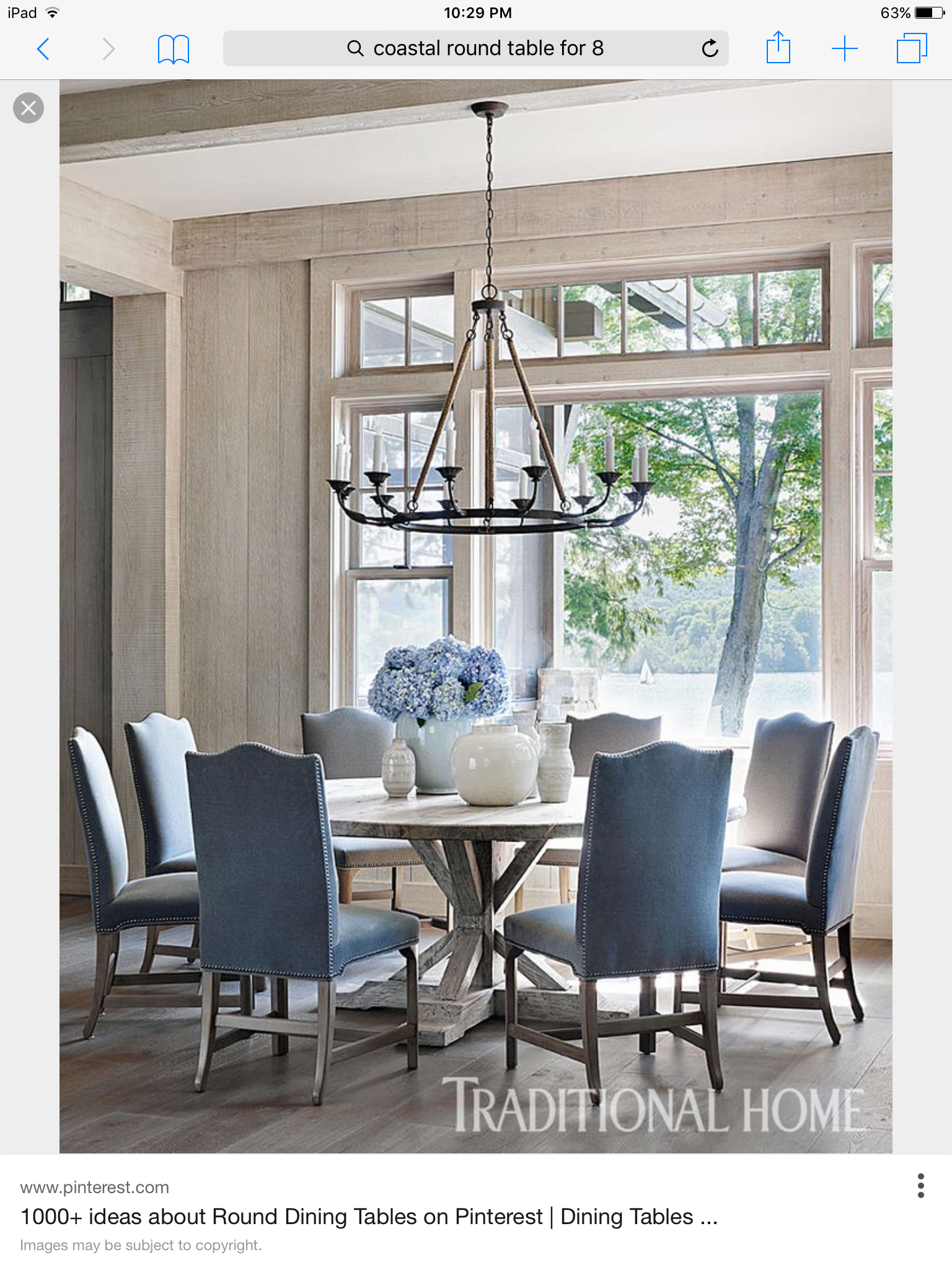 60 Round Table Seats 8 48 Seats 6 Love These Chair Colors French Country Dining Room Country Dining Rooms Beautiful Dining Rooms