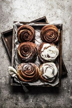 Autumn baked in a cinnamon bun topped with a mouth watering ice-frosted glaze.
