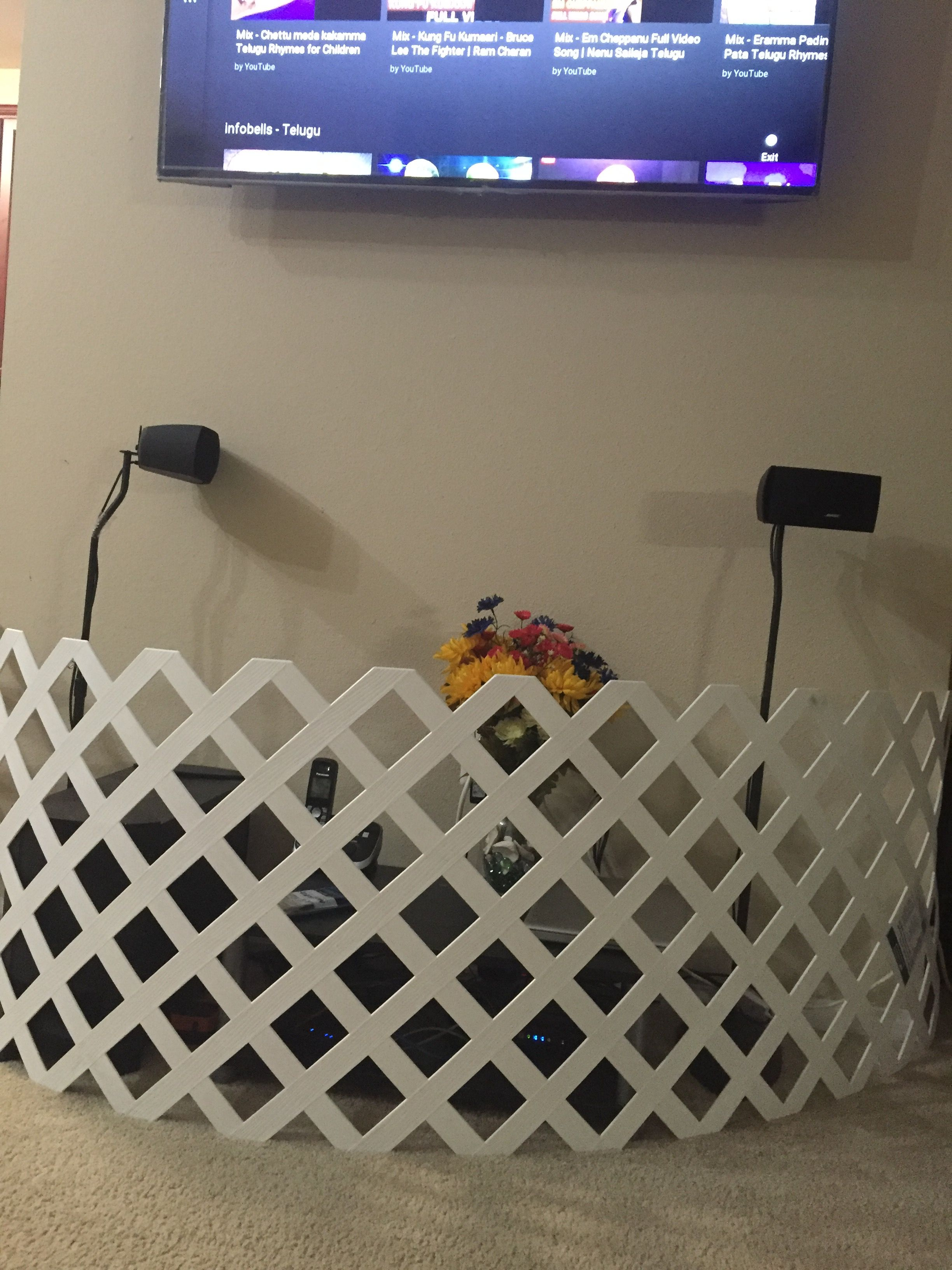 DIY child proofing your TV area .. All you need is a vinyl