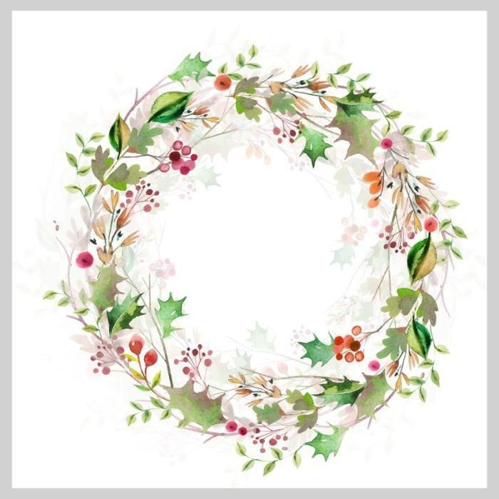 Photo of Watercolor Christmas wreath