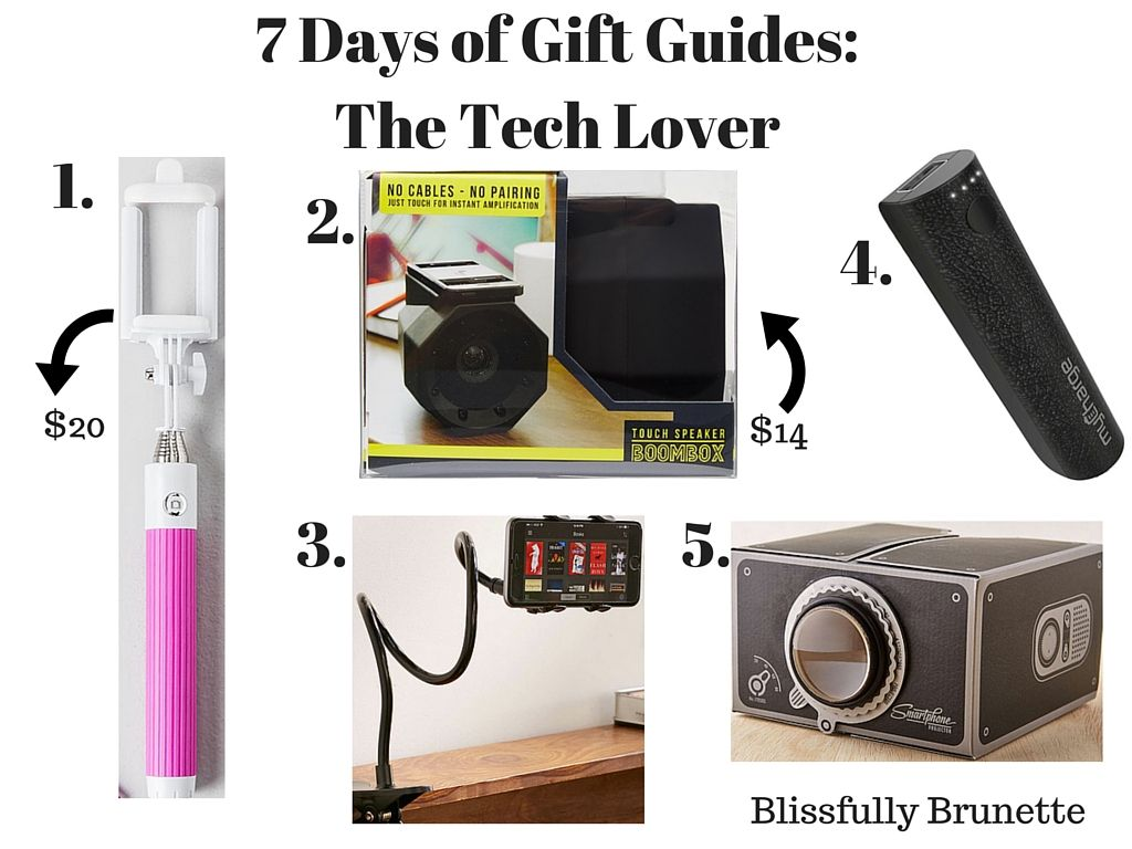 Day 3 of #7DaysOfGiftGuides is live! I have 5 cool tech gadgets for less than $50: http://blissfullybrunette.com/?p=5330