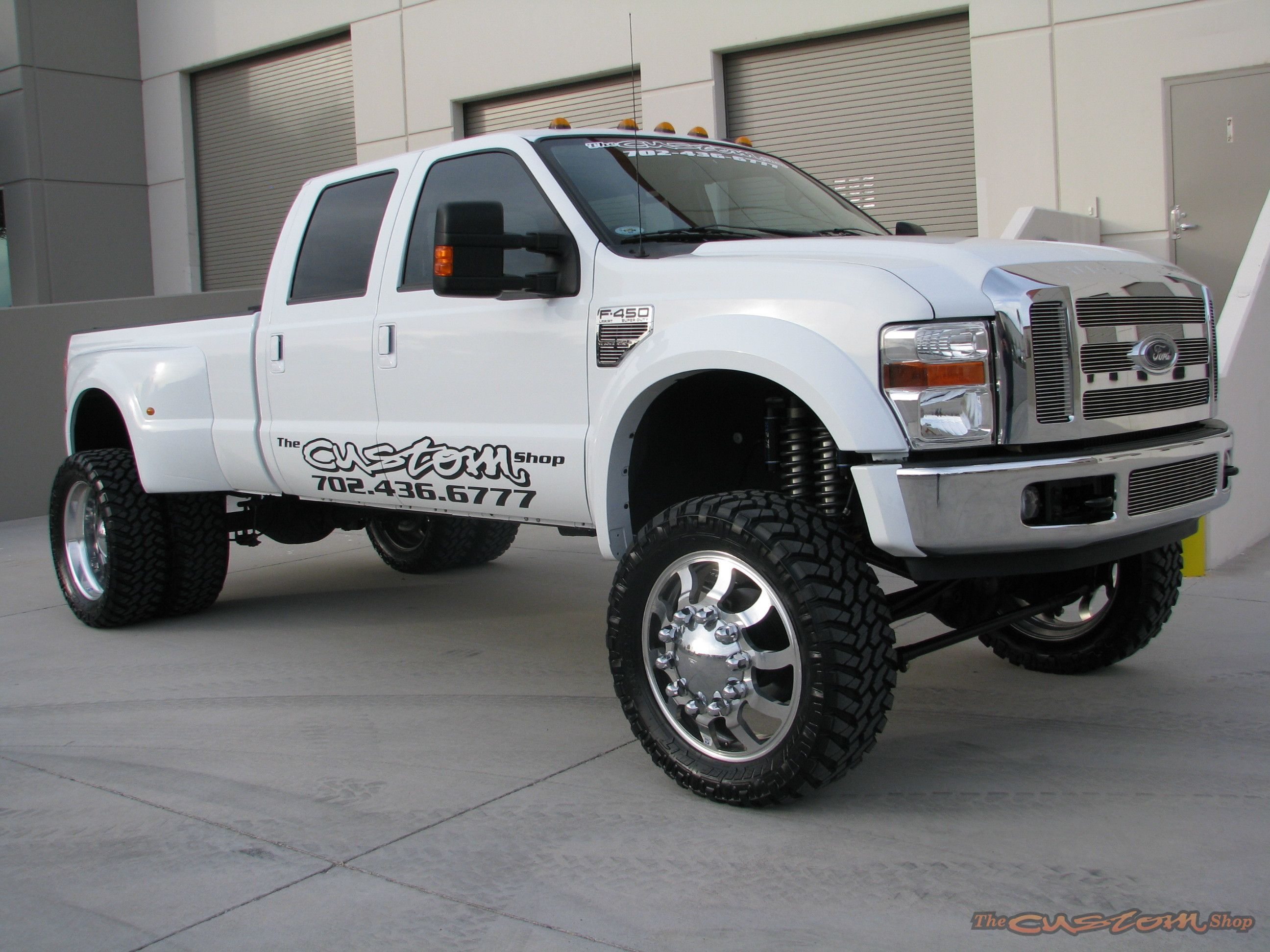 Lifted White Ford F 450 Truck Ford Pickup Trucks Dodge Trucks Lifted Ford Trucks