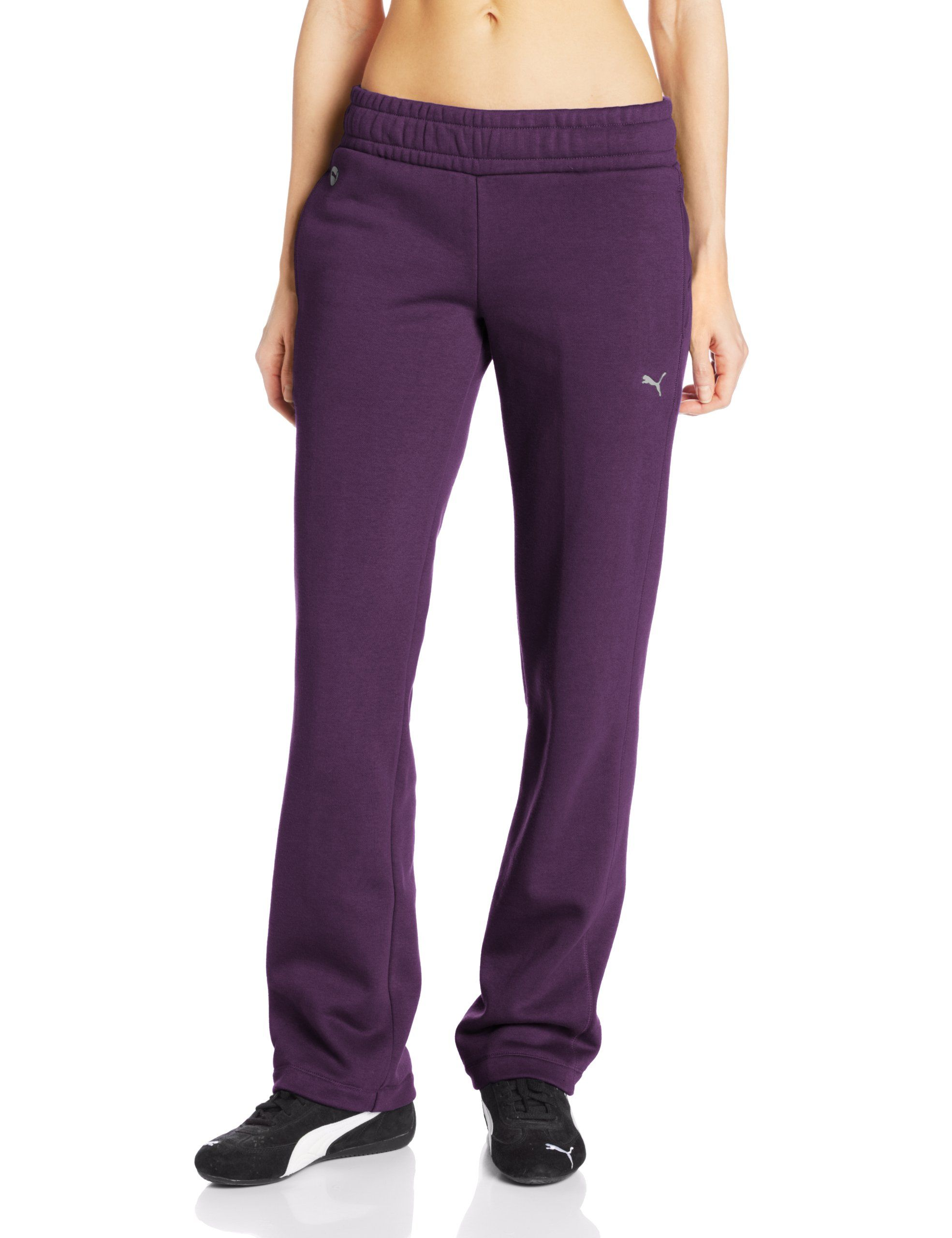 2db3ba97a579a PUMA Women's ESS Sweat Pants Open Fleece at Amazon Women's Clothing ...