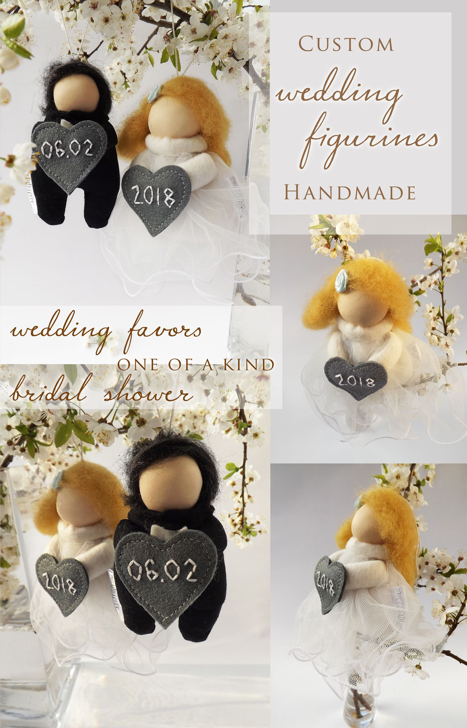 Custom wedding figurines, Bride and Groom sign, Hanging wedding ...