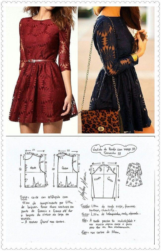 Pin by lucy sanchez on Patrones De vestidos | Pinterest | Dresses ...