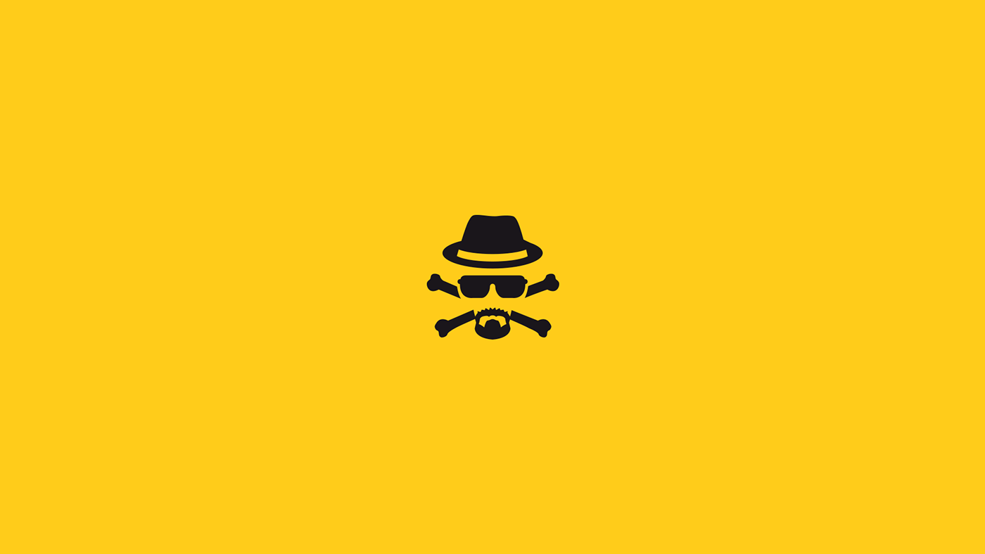 Br Ba Breaking Bad Icon Lex Monzo On Behance Breaking Bad Logos Art
