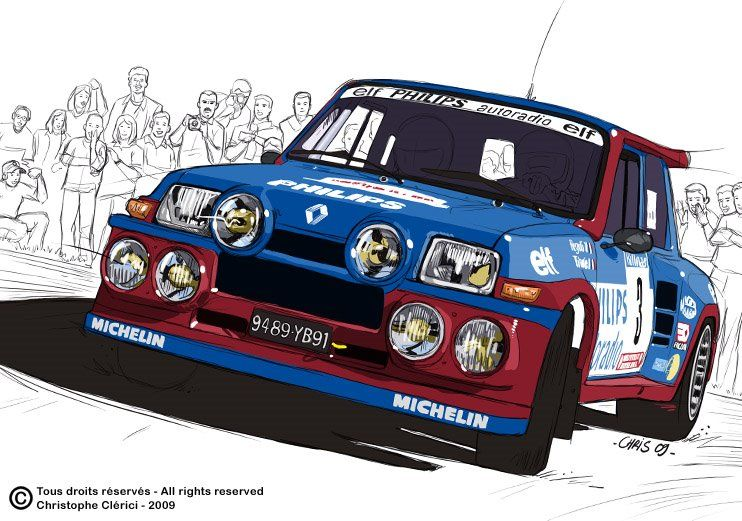 Les illustrations de christophe r5 turbo ragnotti - Dessin voiture de rallye ...