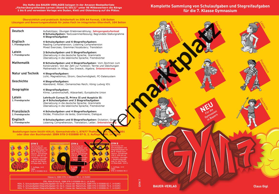 GYM 7 - Sammlung von Schulaufgaben und Stegreifaufgaben für die 7 ...