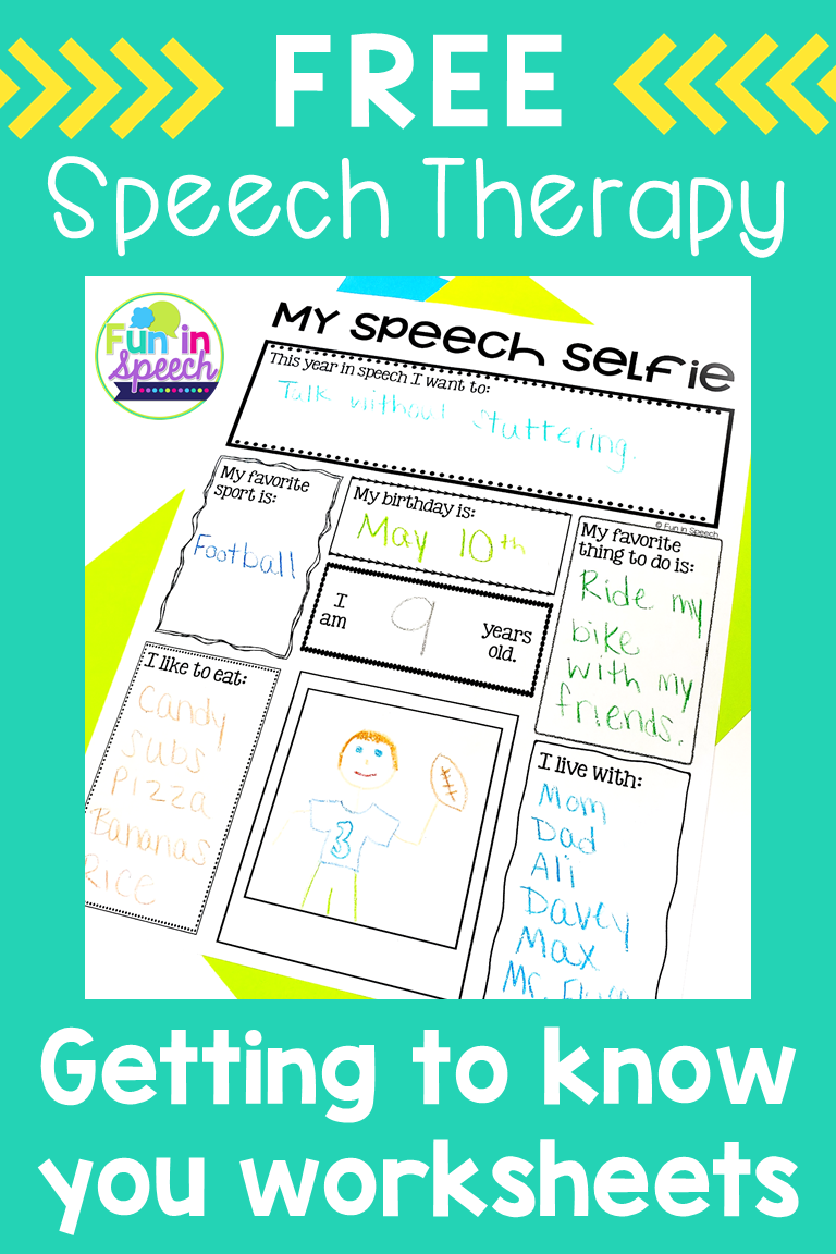 These Free Back To School Speech Therapy Activities Are Great For Getting To Know Speech Therapy Activities Language Kids Speech Therapy School Speech Therapy [ 1152 x 768 Pixel ]