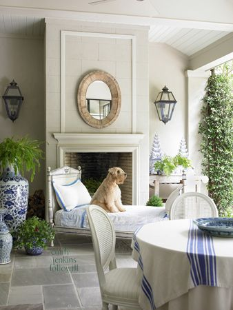 chic + cozy covered patio