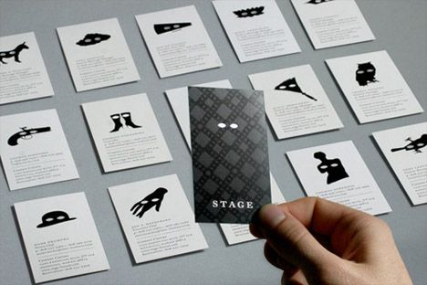 Theatre archetype business cards portfolio and interview ideas theatre archetype business cards reheart Images