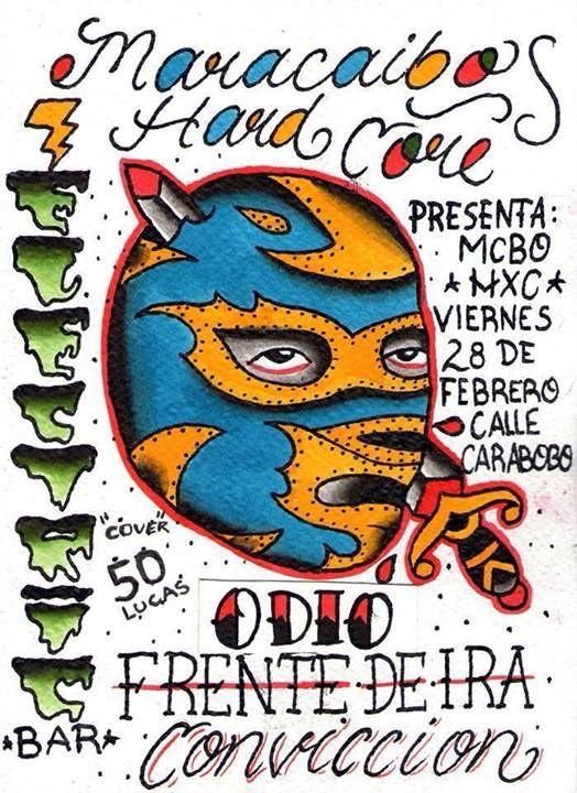 """Cresta Metálica Producciones » """"Maracaibo Hardcore"""" el 28 de Febrero en Electric Bar de Maracaibo!!"""