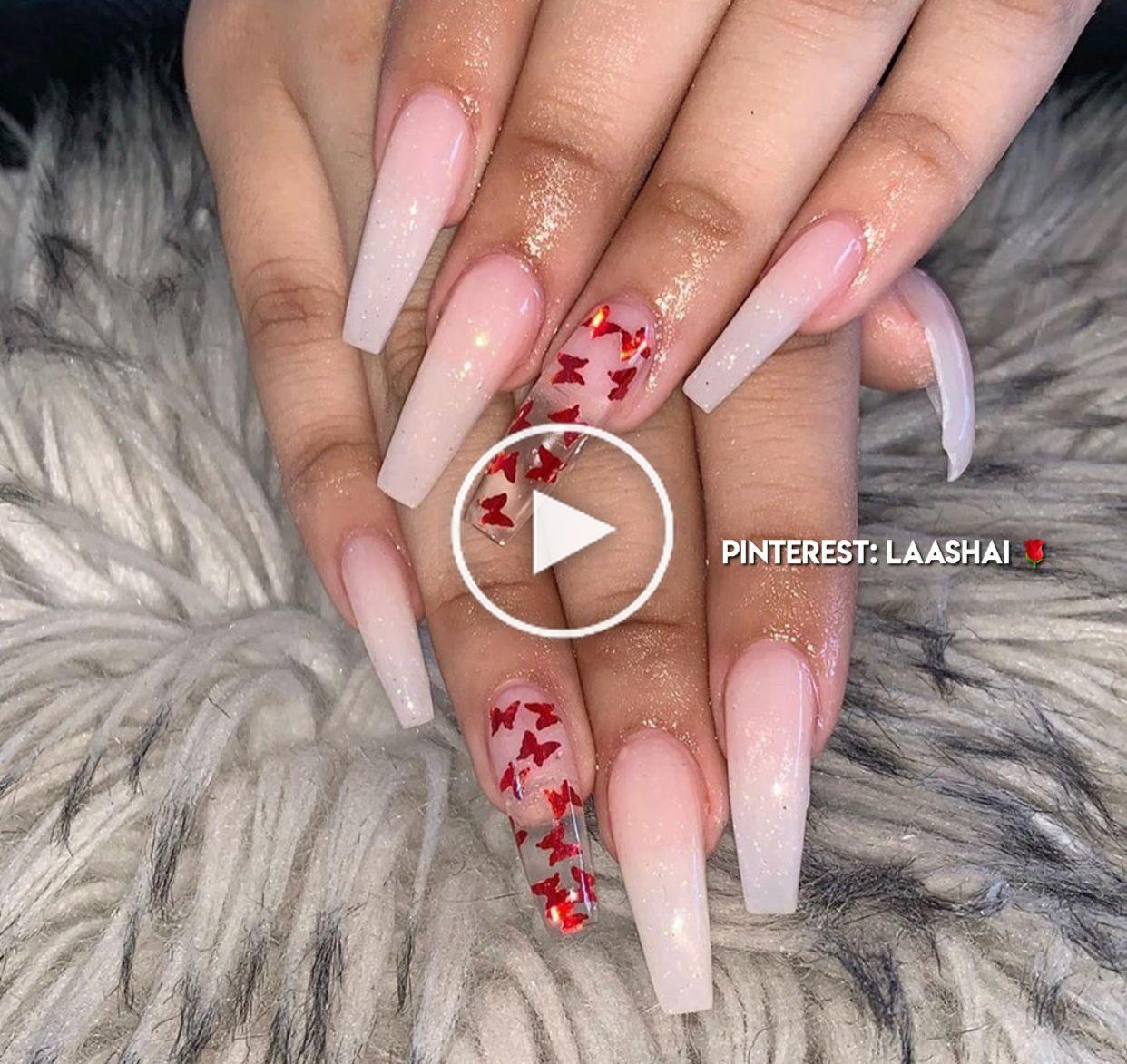 Pinterest Laashai Karens Magic Nails In 2020 Long Acrylic Nails Coffin Red Acrylic Nails Clear Acrylic Nails