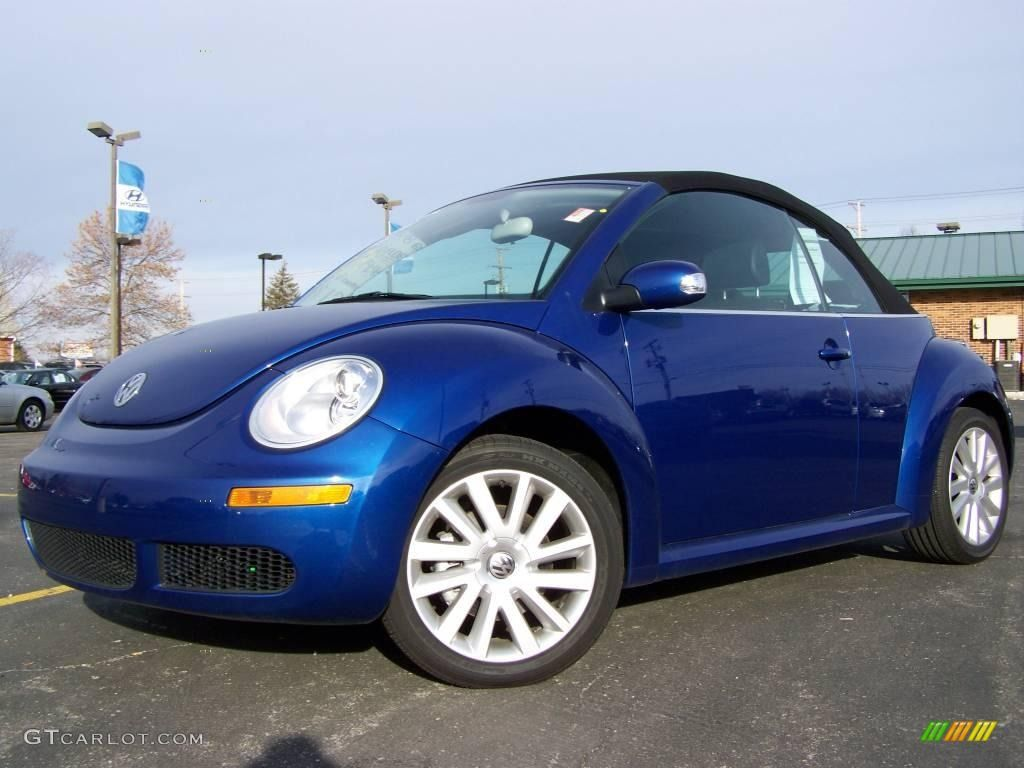 2008 Volkswagen New Beetle Blue 200 Interior And Exterior Images