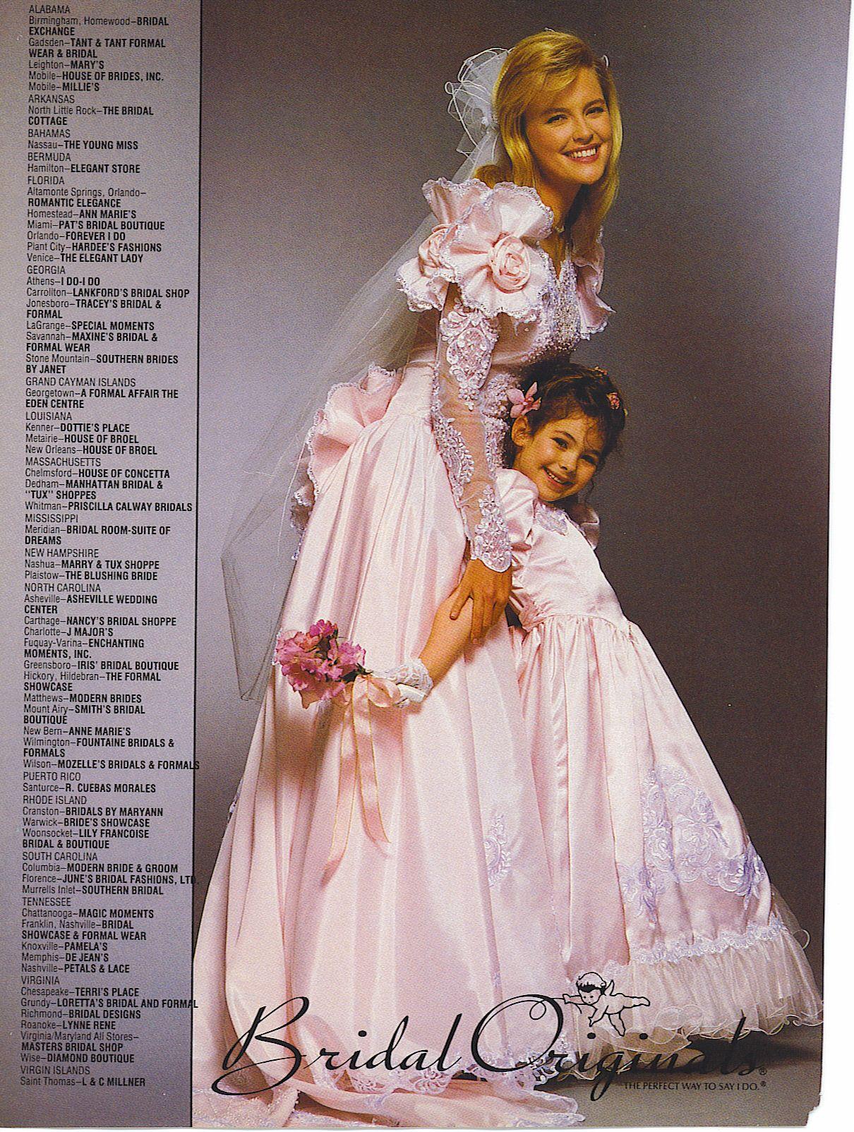 90's Vintage Pink Bridal Originals Wedding Gown: Bridal Originals 1990s Wedding Dresses At Reisefeber.org