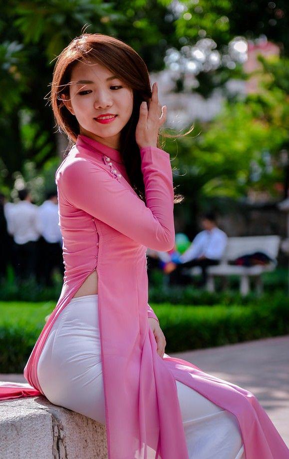 Expression of beauty | Vietnamese long dress, Ao dai