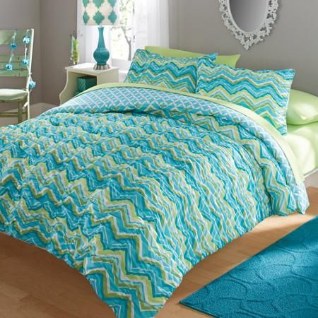 your zone ruched chevron bedding comforter and sham set walmartcom 30