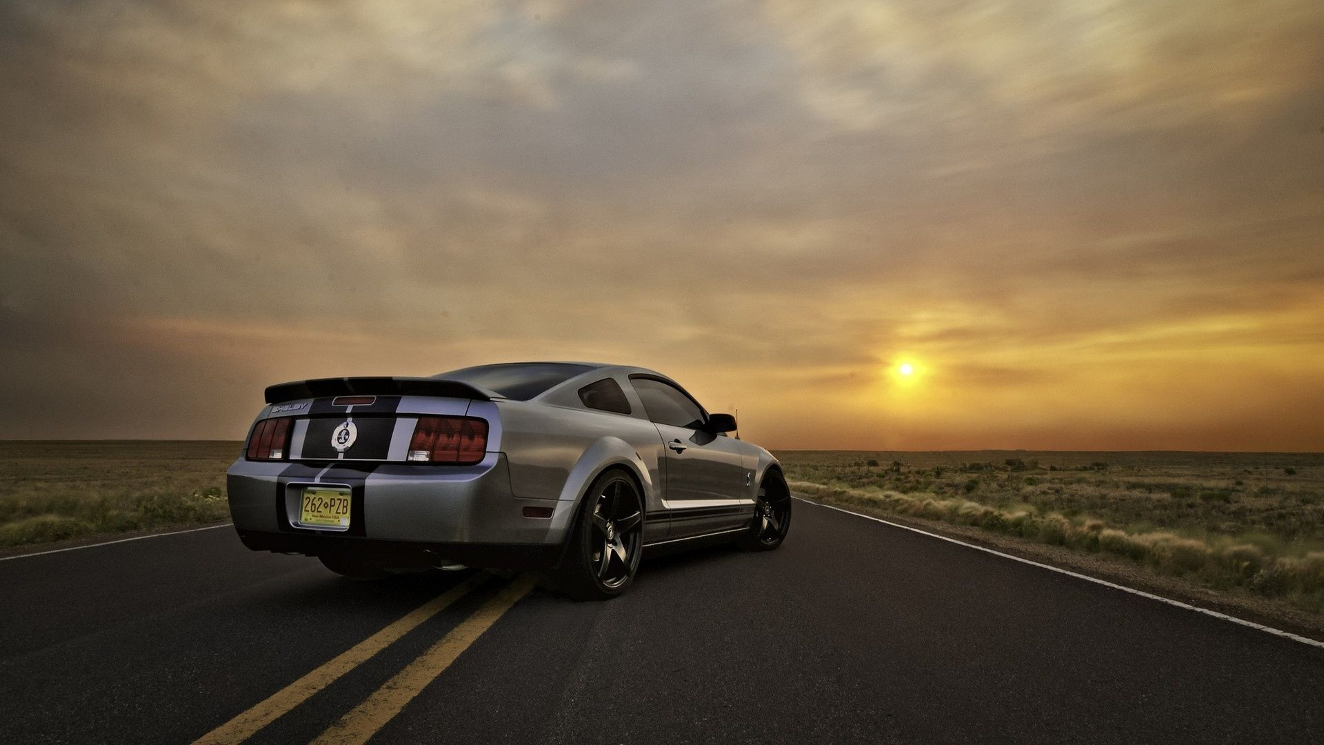 Silver Ford Mustang Sunset Hd Wallpaper At Wallpapersmap Com Mustang Wallpaper Ford Mustang Wallpaper Ford Mustang