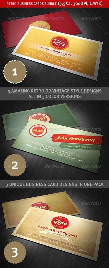 Retro Business Cards Retro Business Card Unique Business Cards Design Graphic Design Business
