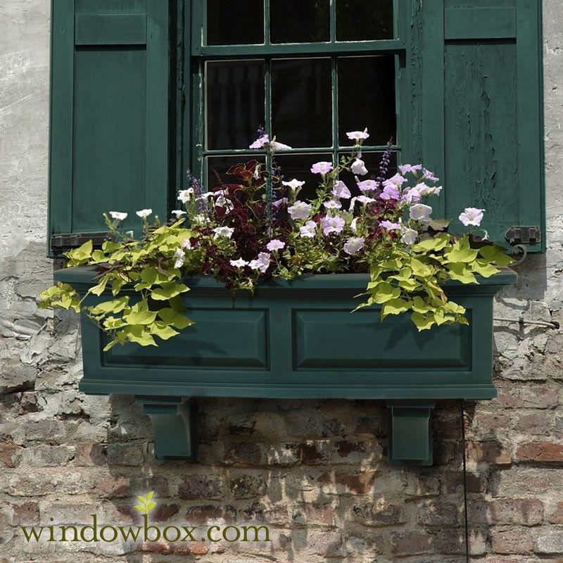 Presidential Window Box - Green #selfwatering