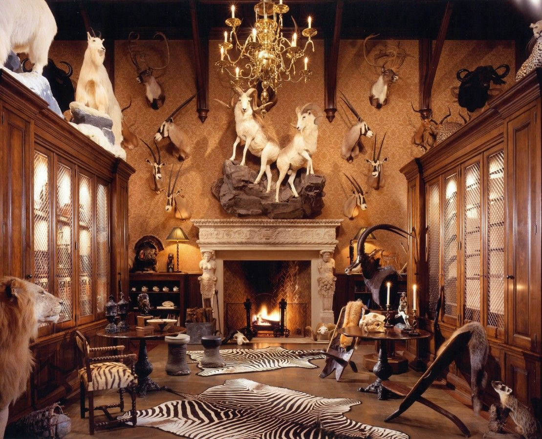 The trophy room a parlor smoking room idea taxidermy for Trophy room design