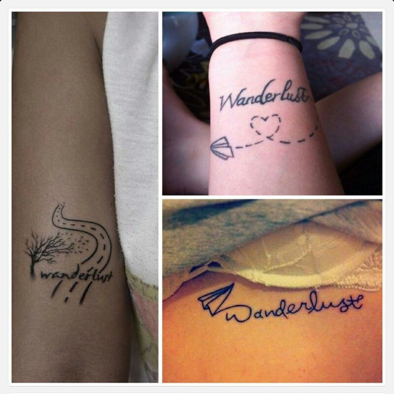 Wanderlust - I love the bottom right one. My next tattoo will absolutely be a wanderlust tattoo <3
