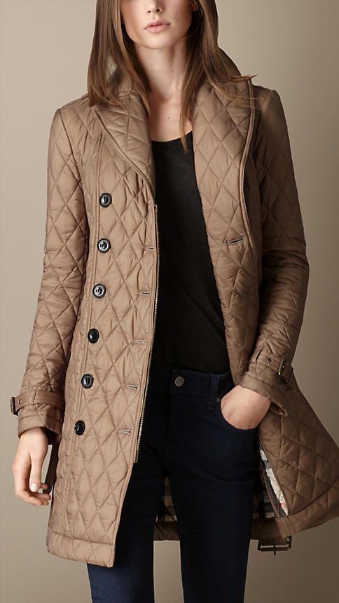 Burberry Quilts Puffers Trench Coats Women Fashion Coat