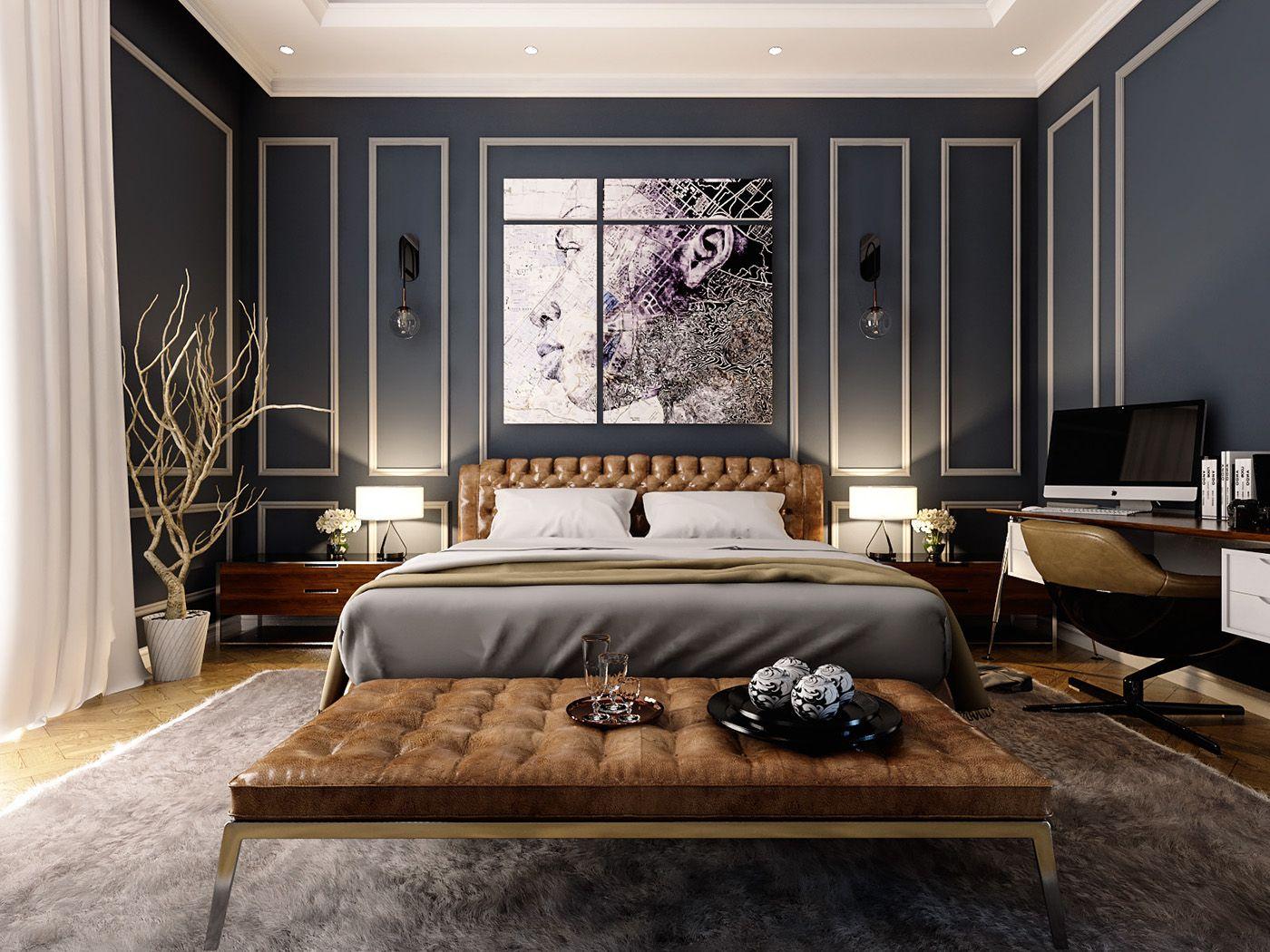 Best Elegant Neoclassic Master Bedroom Design Located In Dubai 400 x 300