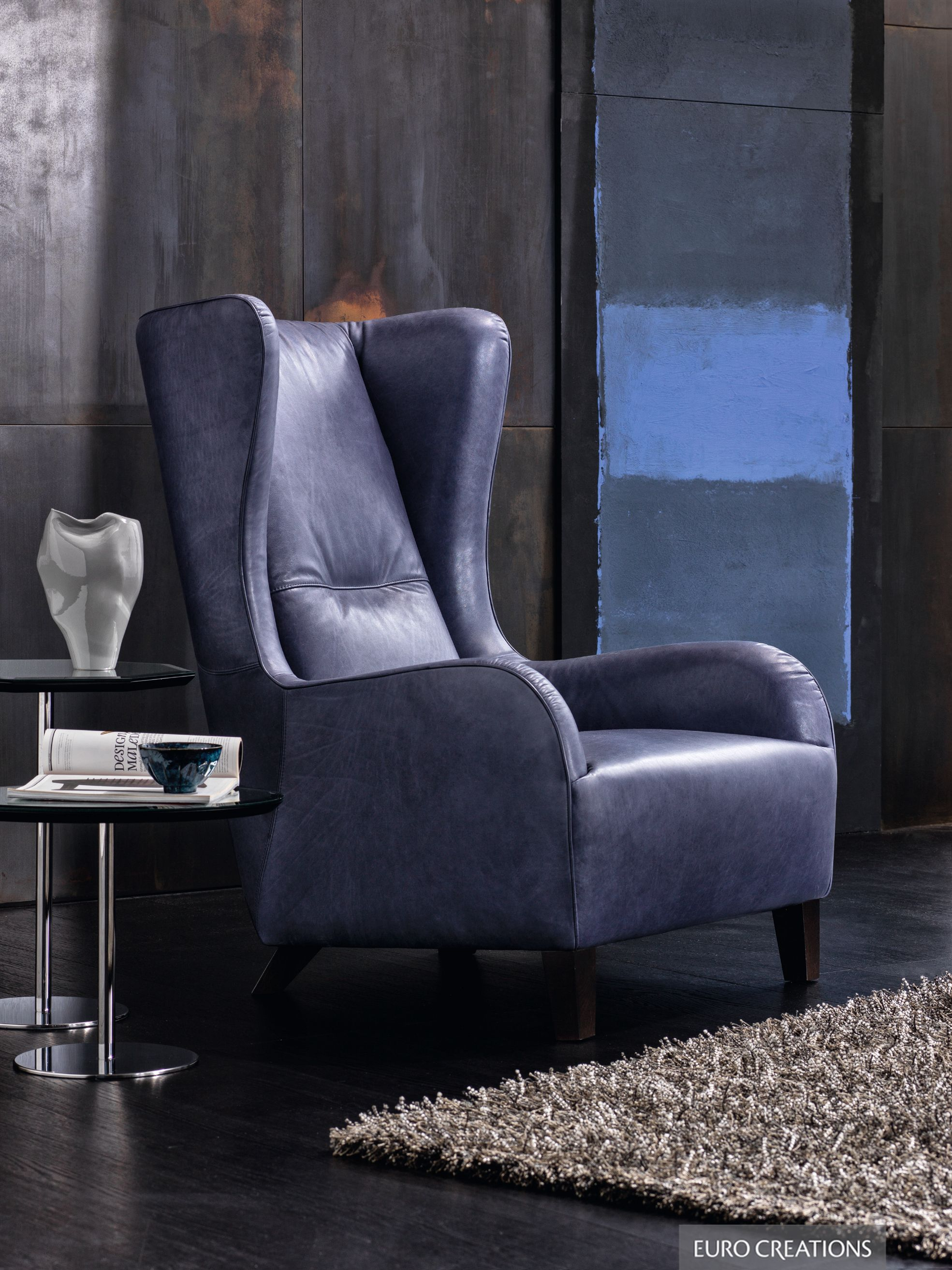 Natuzzi Marlene Armchair leather available at EuroCreations