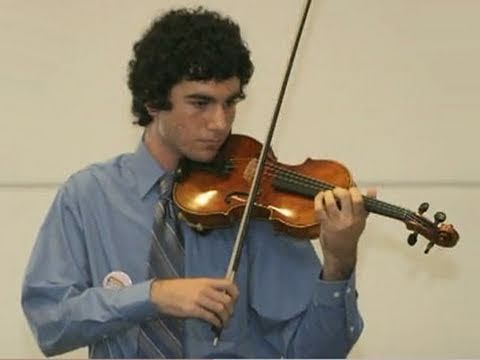 Sixteen-year-old Joe, who has cancer, wished to have a violin.