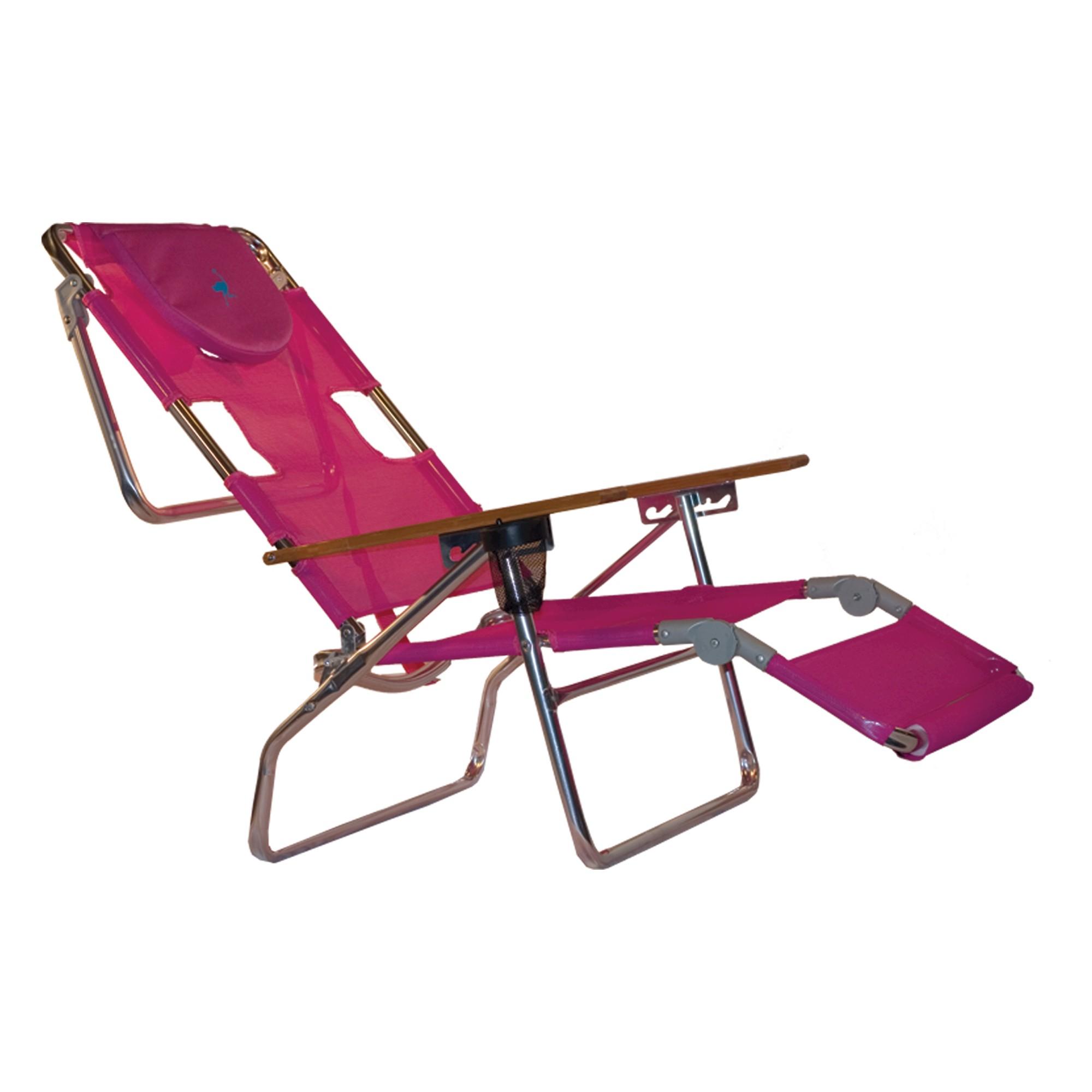Ostrich Face Down 3 In 1 Beach Chair Bright Pink Beach