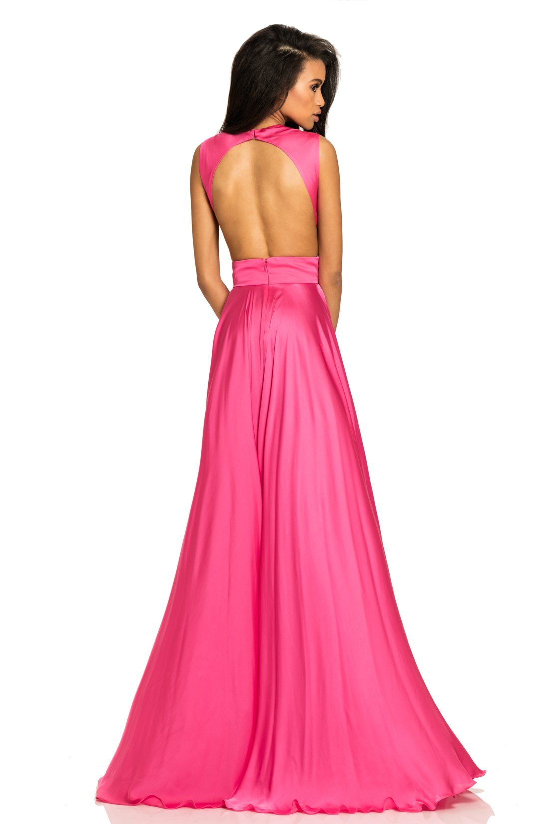 Modern classic with cut outs and a double slit Perfect for prom ...