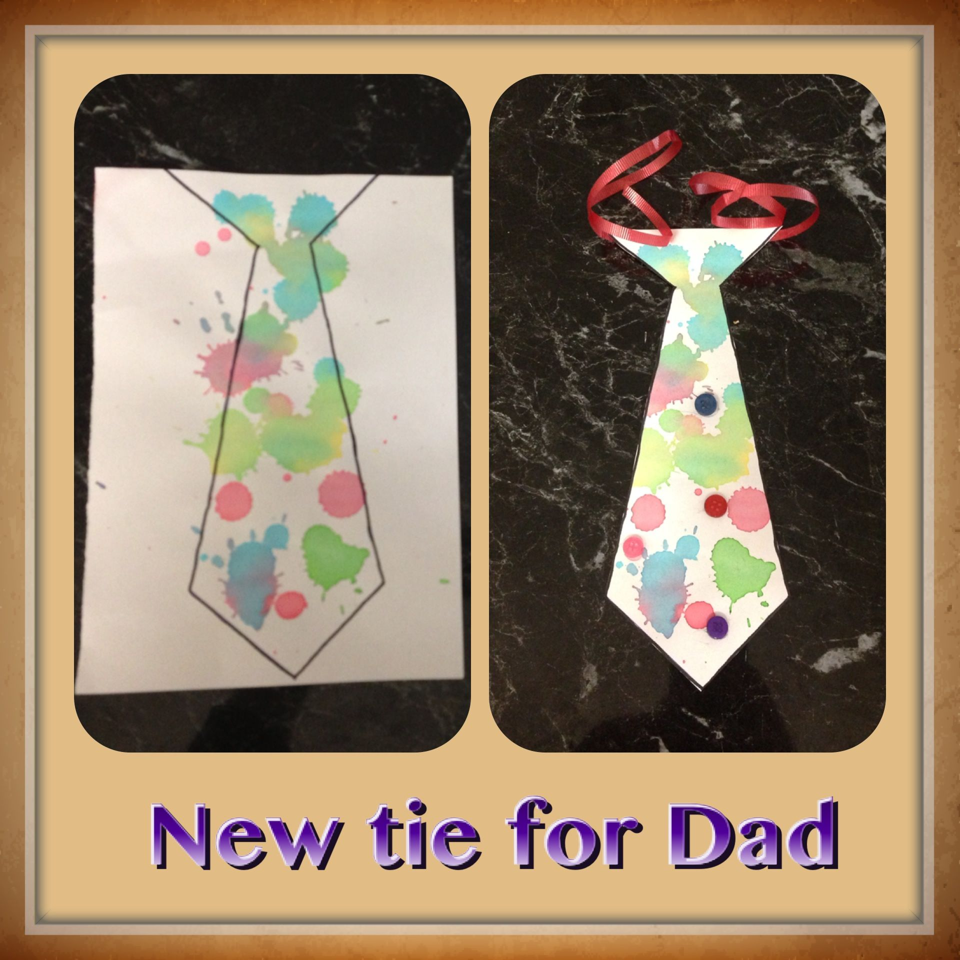 Tie For Dad Father S Day Idea Easy Preschool Activity