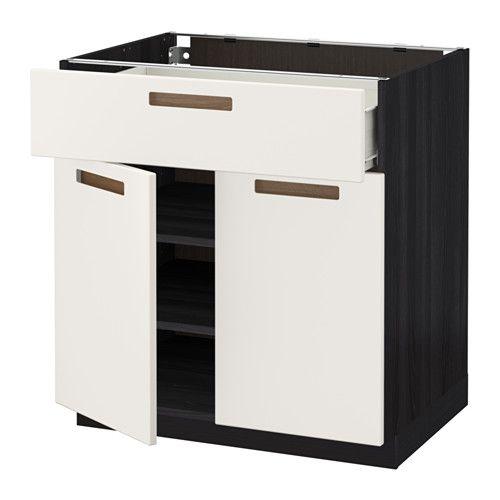 МЕТОД / ФОРВАРА Напольный шкаф+ящик/2дверцы IKEA Ящик ФОРВАРА выдвигается на ¾ своей глубины и обеспечивает достаточно места для хранения.