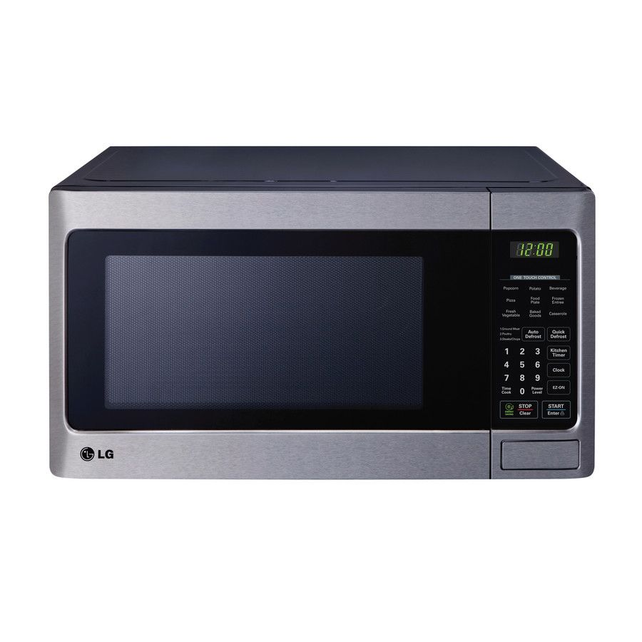 Lg 1 1 Cu Ft 1 000 Watt Countertop Microwave Stainless Steel