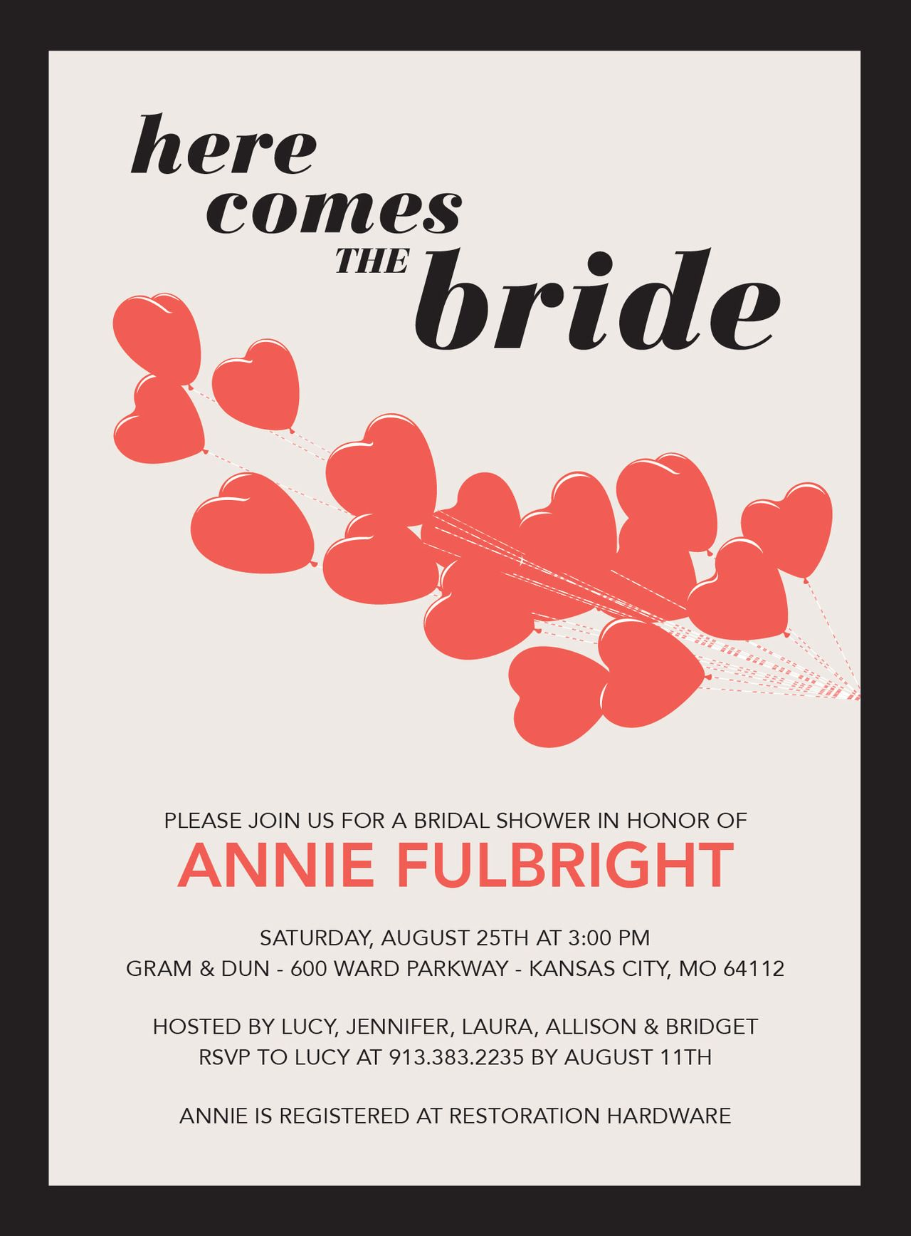 Tiny Prints / DwellStudio bridal shower invitation | MY STATIONERY ...