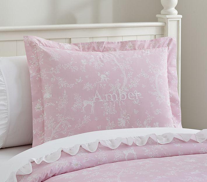 Fairy Dreams Toile Duvet Cover Shams Pink Duvet Cover Duvet Covers Duvet