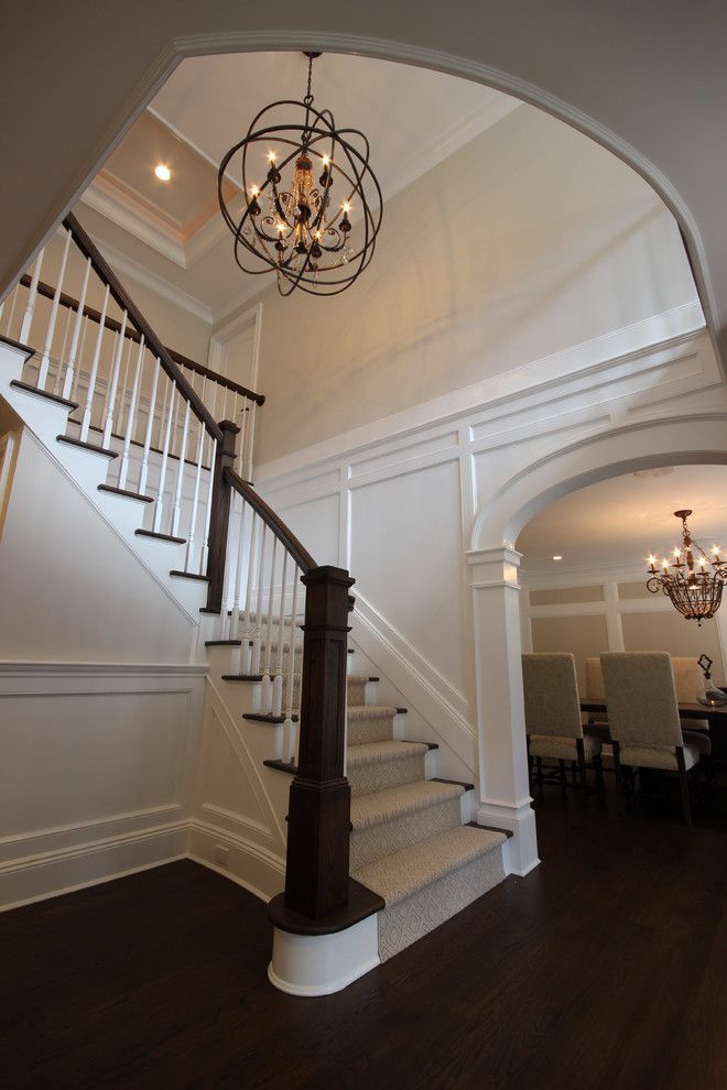 Oil Rubbed Bronze Chandelier Spaces Transitional With Entry Foyer Gray Walls
