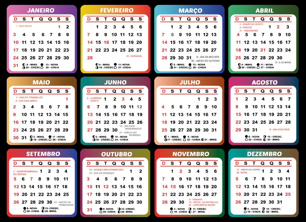 Gabarito de Calendário 2021 para Tema Infantil | Imagem Legal em