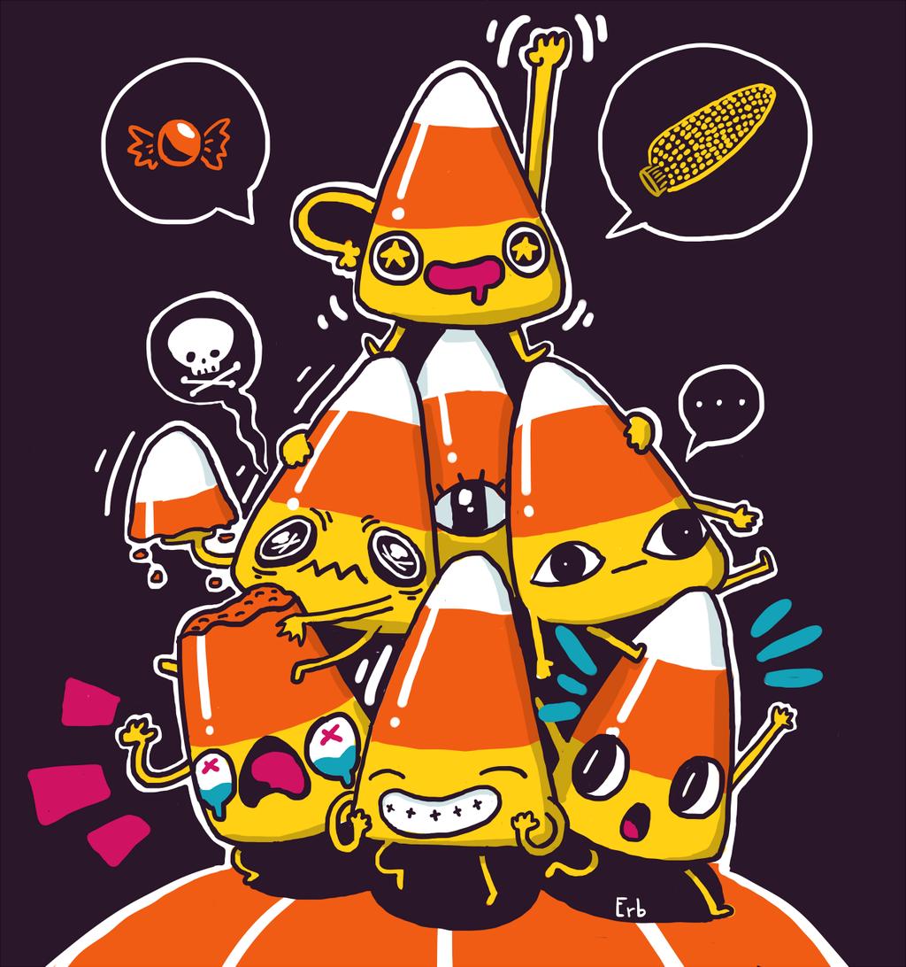 Candy Corn! by ErbMaster on deviantART Halloween artwork