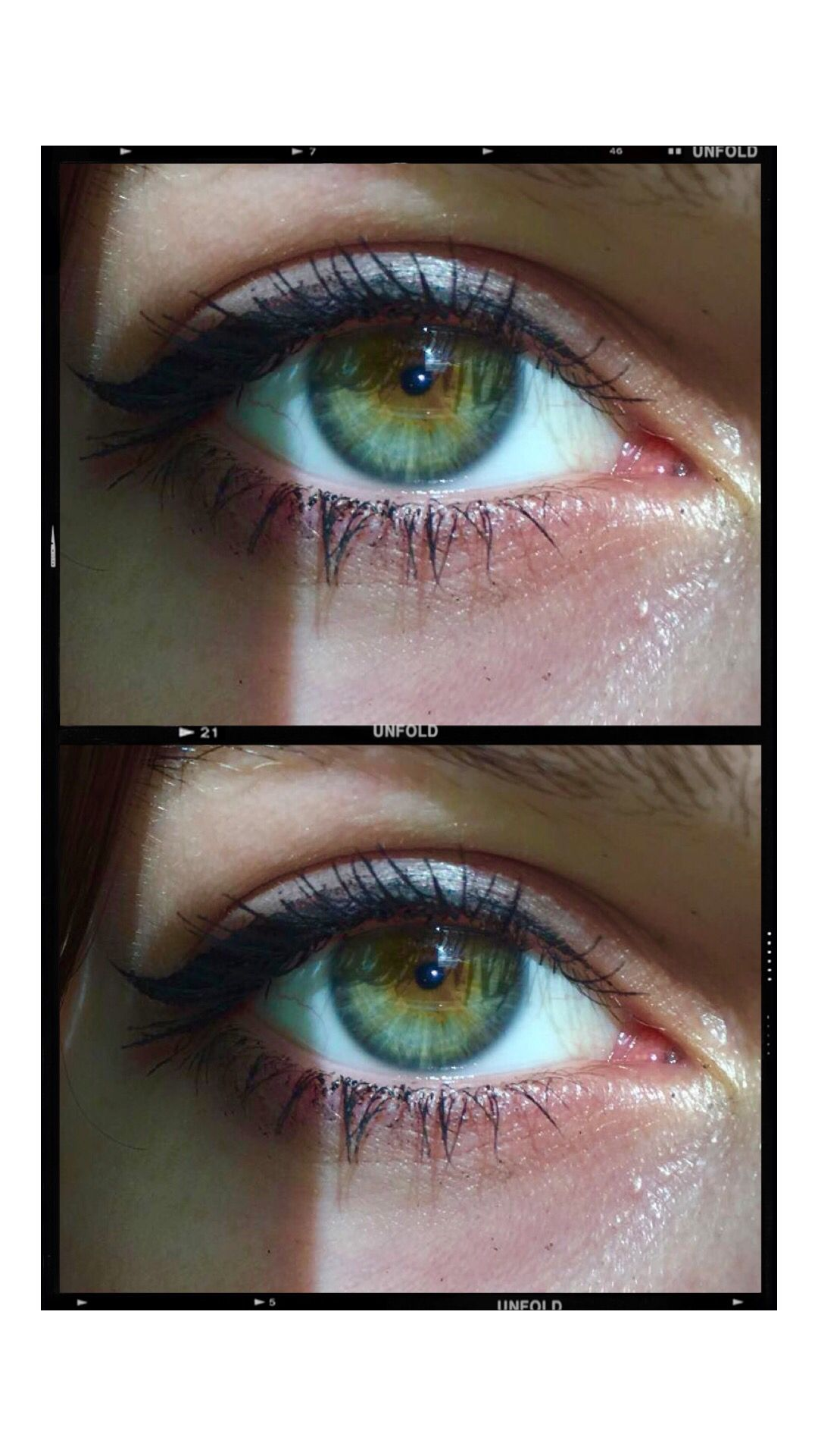 nofilter #eyes #eyeliner #sun #mascara #greeneyes #green