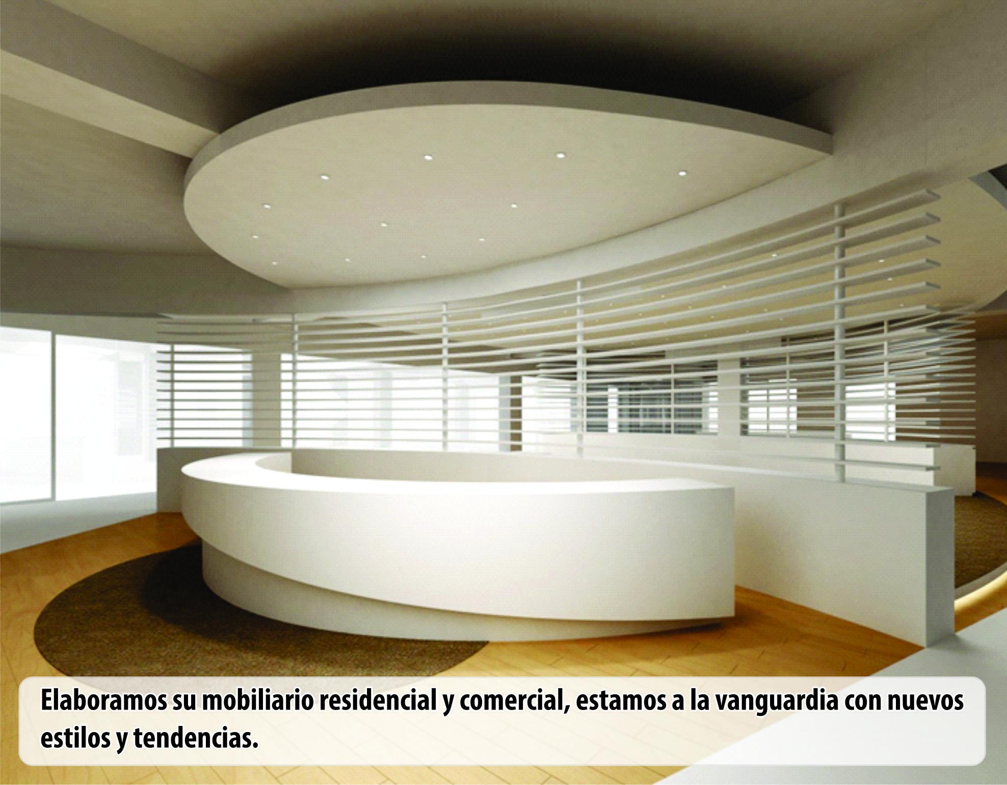 Mobiliario Residencial Comercial O Empresarial Oficinas De Diseño Muebles De Recepcion Diseño De Techo