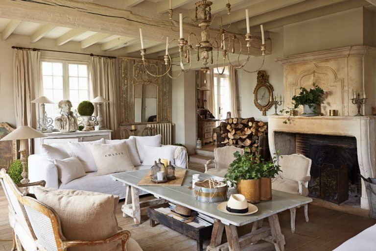 A Refined French Interior Country Living Room Design French