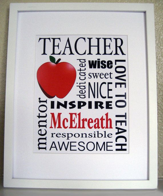 personalized teacher gift print the original teacher appreciation gift custom subway sign - Teacher Pictures To Print