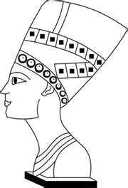 Nefertiti coloring page