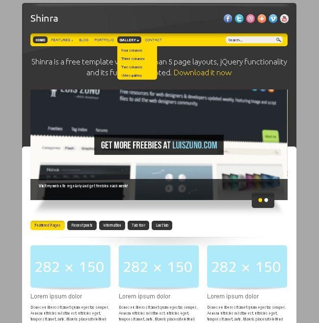 Шаблоны html сайта скачать бесплатно
