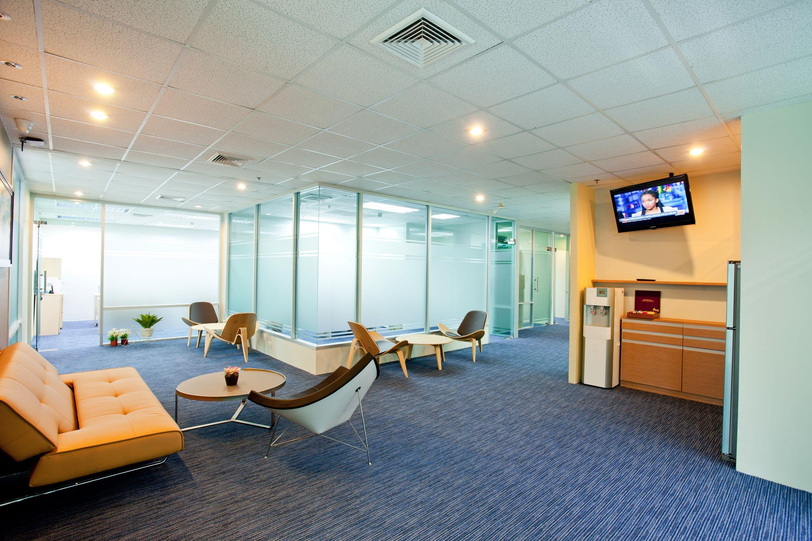 Linuxx Serviced Office Cozy Living Room President Tower 6th Floor Chidlom Bangkok Thailand