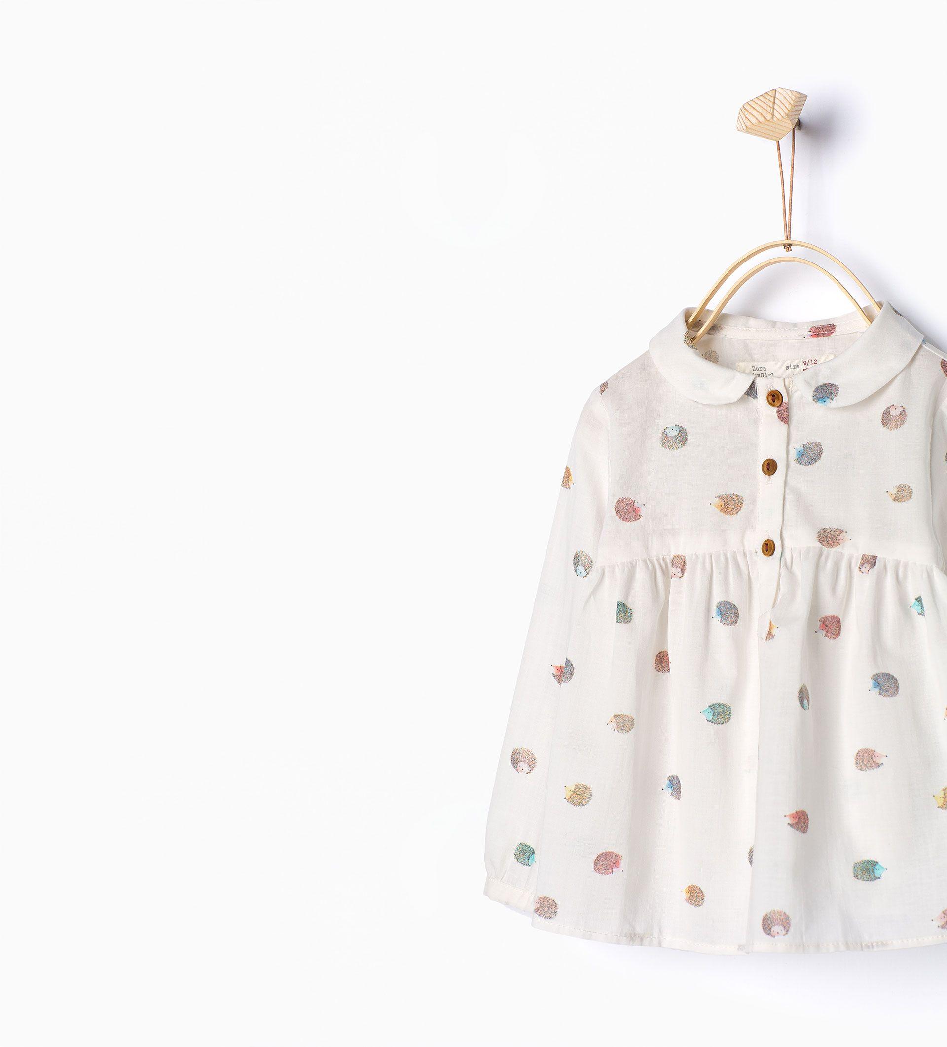 Chemise orné d'un motif de hérissons - Chemises et t - shirts - Bébé fille (3 mois - 4 ans) - ENFANTS | ZARA France