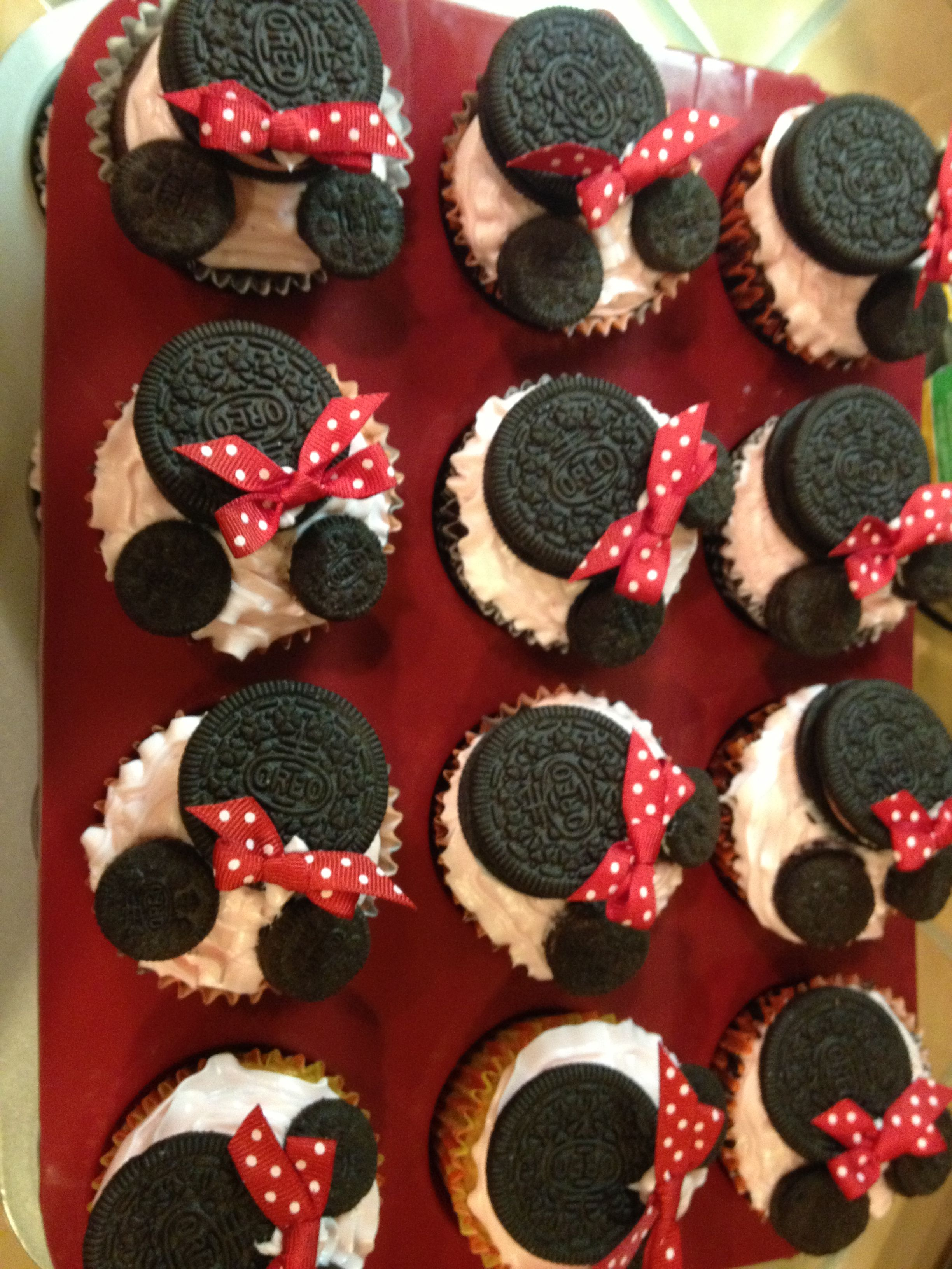 Minnie cupcakes for Alyssa's 2nd BDay